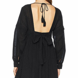 Free People Black Sugarpie Boho Mini Dress OB843133