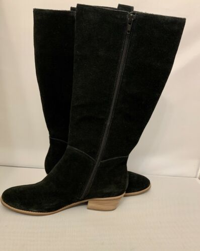 Jack Rogers Sawyer Black Suede Tall Boots Size 8