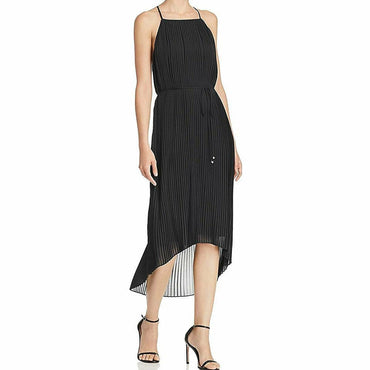 Sam Edelman Womens Black Pleated Hi-Low Night Out Midi Dress Size 6