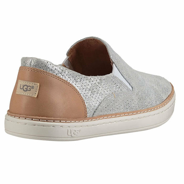 Ugg Australia Adley Perf Stardust Silver 1019611 Fashion Sneakers Size 6.5