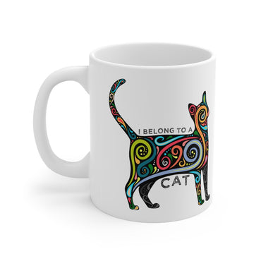 I Belong to a Cat - Pet Lover Novelty Coffee Mug 11oz