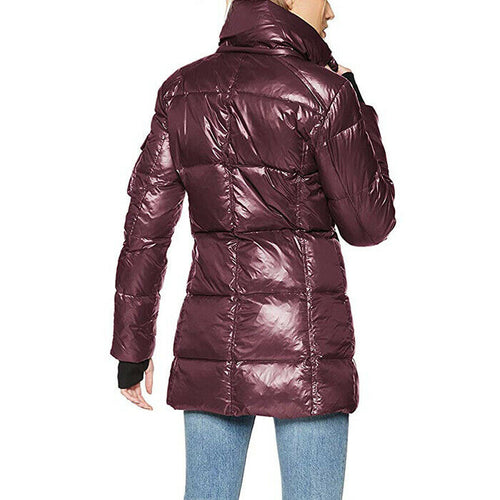 S13 Womens Gramercy Faux Fur Hooded Down Puffer Quilted Jacket Coat Size XL