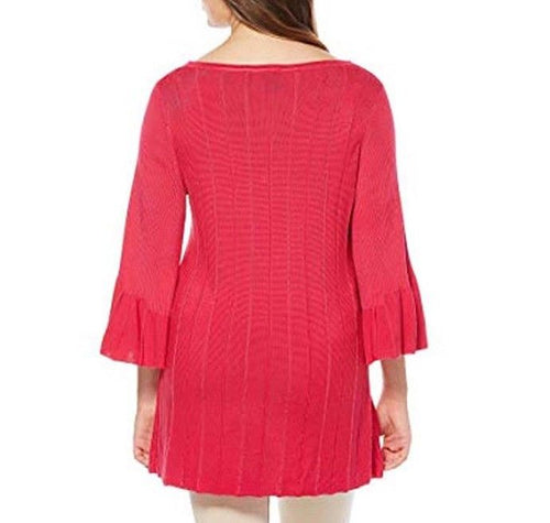 Rafaella Bell Sleeve Sweater Tunic Size XL NWT