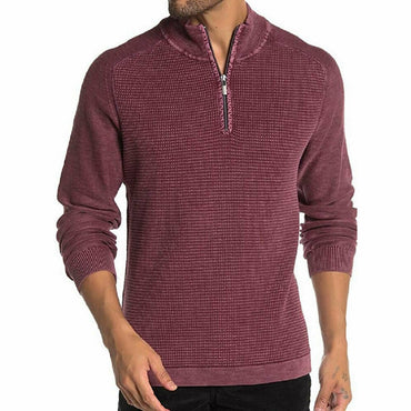 Tommy Bahama Mens Island Tide Half Zip Sweater in Grapewine