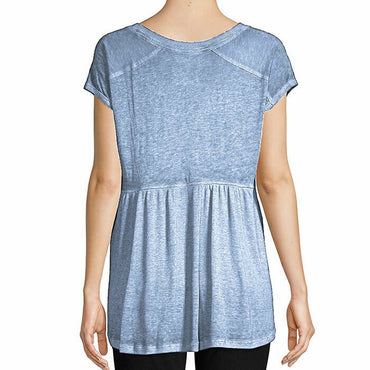 Calvin Klein Performance Blue Short Sleeve V-Neck Active Knit Tee Top Size XL