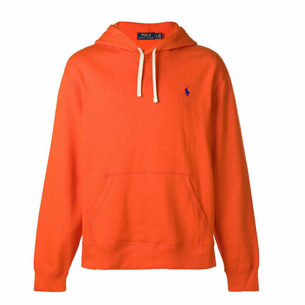 Polo Ralph Lauren Orange Pony Logo Hooded Sweatshirt Hoodie Size L
