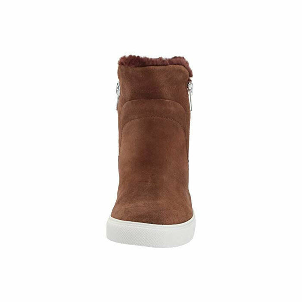 Steven by Steve Madden Camela Brown Suede Hidden Wedge Sneaker Boot Size 9.5