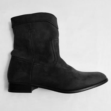 Frye black Cara Roper Short Leather Women's Boots Booties size 8.5