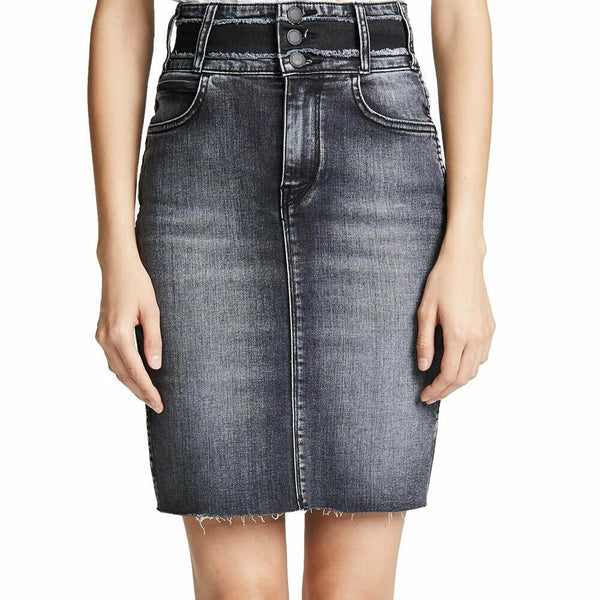 Hudson Jeans Helena High Waist Stretch Denim Pencil Skirt Size 24 NWT $165