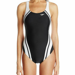 Speedo Quantum Splice One-Piece Black Swimsuit Style 7235051 Size 8