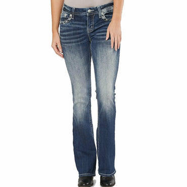 Miss Me Mid-Rise Easy Boot Stretch Premium Denim Jeans E3304EBR
