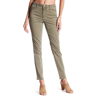 Jag Women's Gwen Stretch Skinny Highrise Olive Jeans NWT Size 4