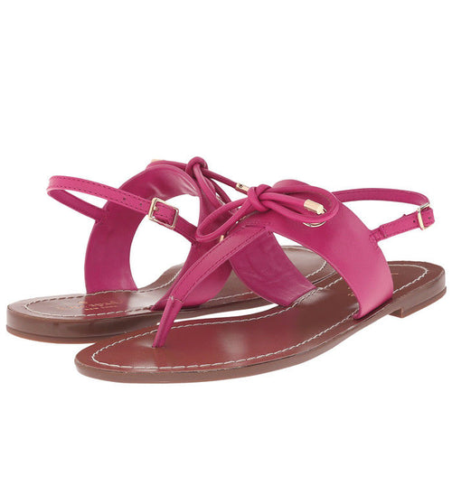 Kate Spade Women's Pink Leather Carolina Thong Sandal Size 7.5