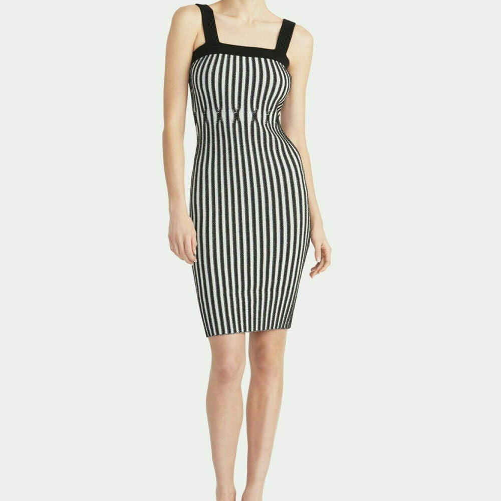 RACHEL Rachel Roy Lisa Ribbed Stretch Bodycon Sweater Dress Size M