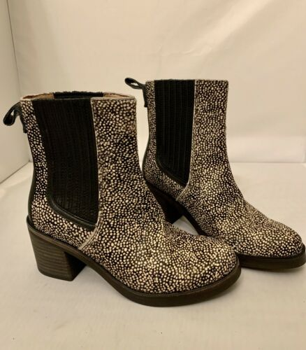 Ugg Camden Exotic Calf Hair Ankle Heel Boots Booties Size 5