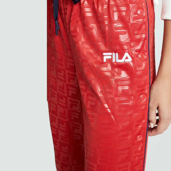 Fila Lena Flared Tear Away Active Athleisure Track Red Pants Size XL