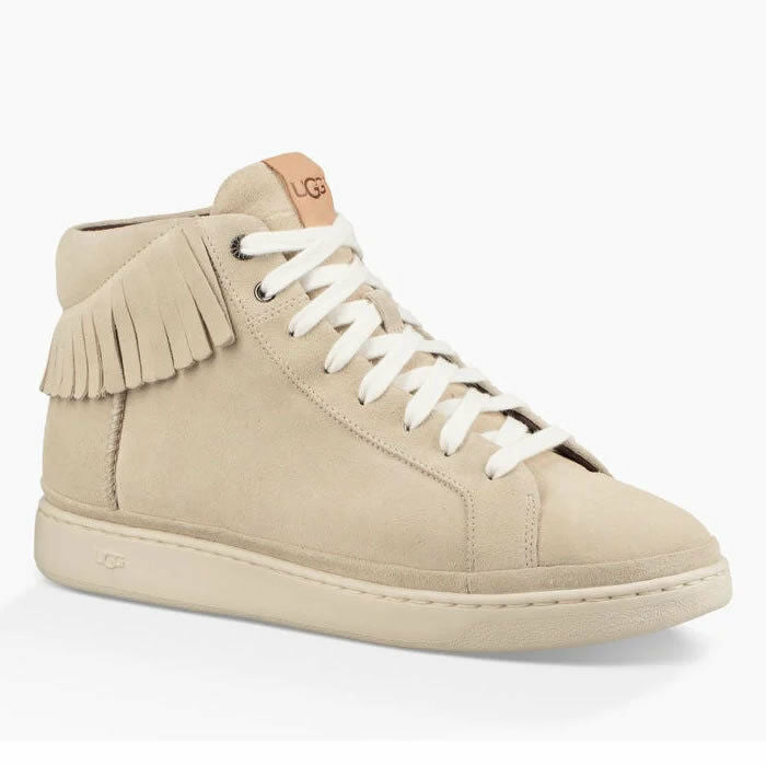Ugg Cali High Fringe Suede Leather Fashion Sneakers Size 12