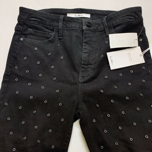 Sam Edelman Black The Stiletto Grommet High Rise Skinny Jeans Size 30 MSRP $149