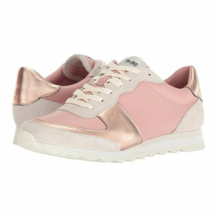 Coach Pink Leather C142 Runner Fashion Sneakers G2684 Size 10
