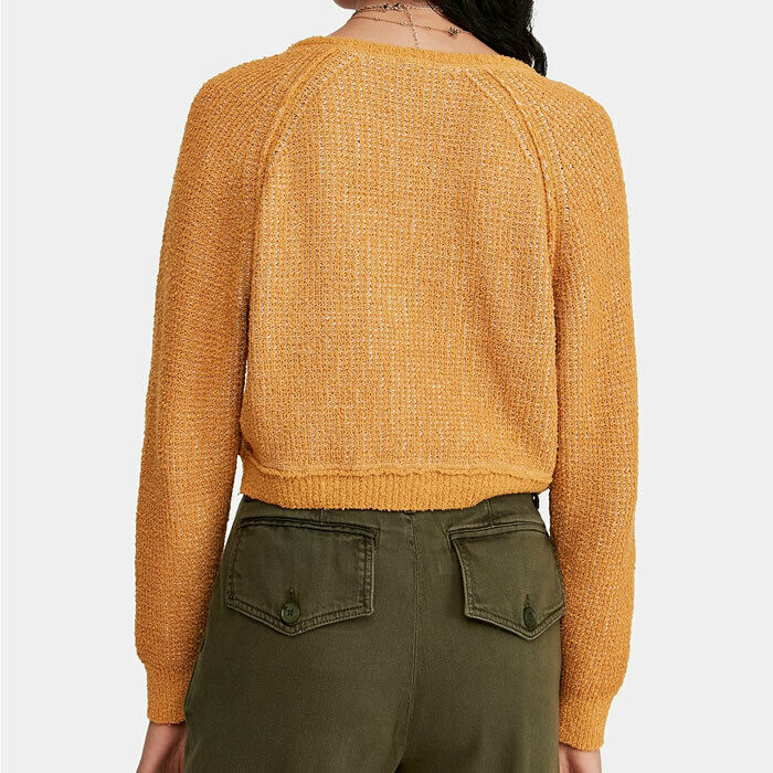 Free People High Low V Neck Sweater Large L $128 OB894277 NWT New