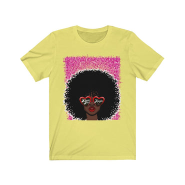 Black Girl Magic Glitter Bomb Jersey Short Sleeve Tee