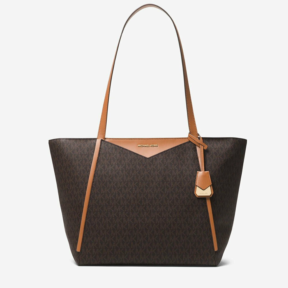 Michael Kors Whitney Large Brown Logo Tote Bag
