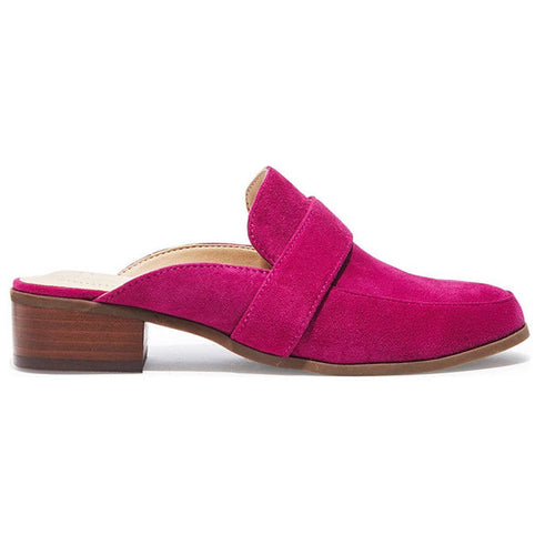 Me Too Jada Pink Suede Mules Shoes Size 8.5 M Black