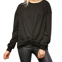 Lumiere Womens Black Knit Top Size M NWT