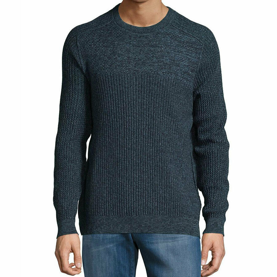 Tommy Bahama Mens Size Large Blue Medina Marl CrewNeck Sweater