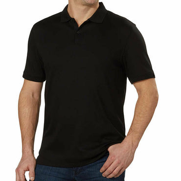 Calvin Klein Men's Short Sleeve Liquid Touch Black Polo Shirt Size XXL