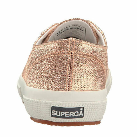Superga Women's 2750 Qatarmetal Metallic Rose Gold Fashion Sneakers Size 10