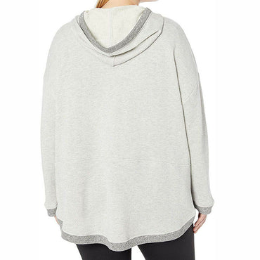 Marc New York Performance Women's Sparkle Terry Hooded Pullover Sweatshirt Sz 1X