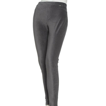 Calvin Klein Grey Ribbed Velour Stretch Leggings Plus Size 3X