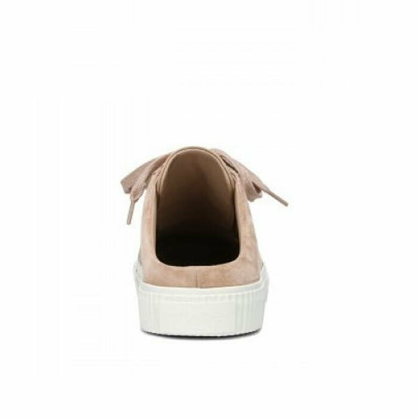 Vince Kess Apricot Backless Leather & Suede Slip On Lace Up Sneakers Size 7