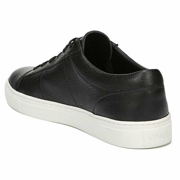 Vince Afton Black Leather Lace Up Low-Top Fashion Sneaker SIZE 9.5 $295