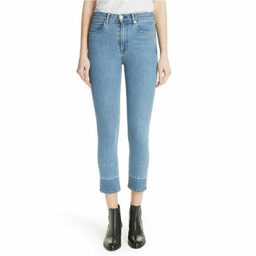Rag & Bone High Waist Ankle Cigarette Skinny Denim Jeans in Pham Size 24 $250