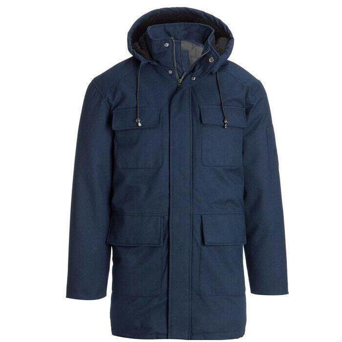 Rainforest Ceo Storm Blue Winter Hooded Thermolite Coat Jacket Size S $395
