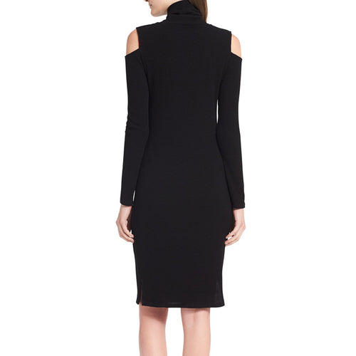 Calvin Klein Cold Shoulder Black Knit Dress Size XL
