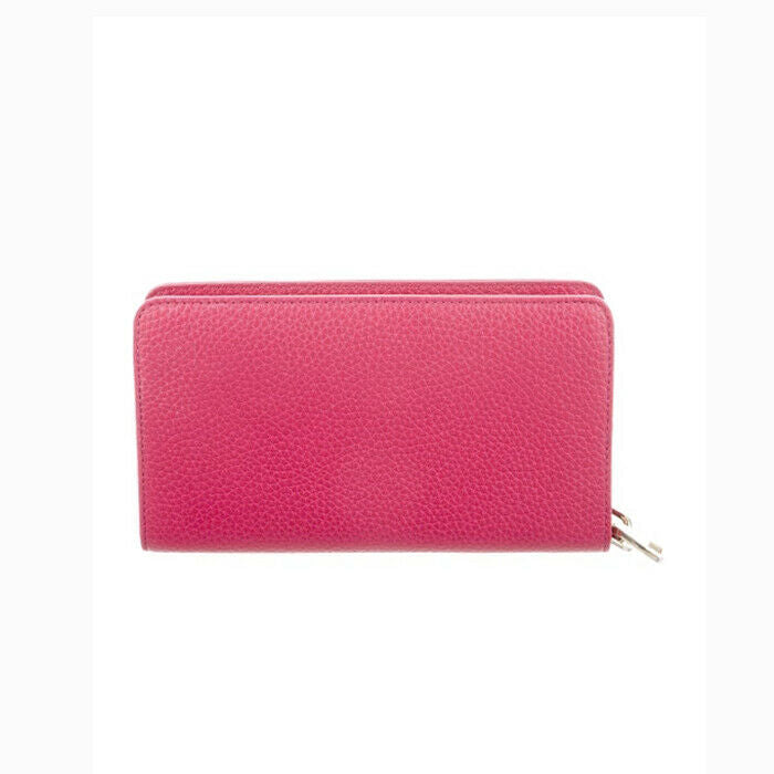 880aad218d4b Tory Burch Pebbled Pink Leather Bombe Smartphone Wristlet Wallet NWT ...