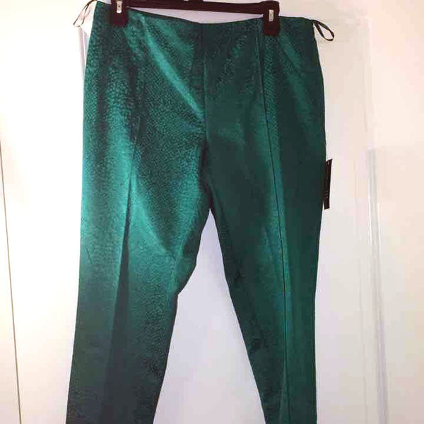 INC International Concepts Women's Teal Pants GEO Skinny Snake Print Size 16 NWT