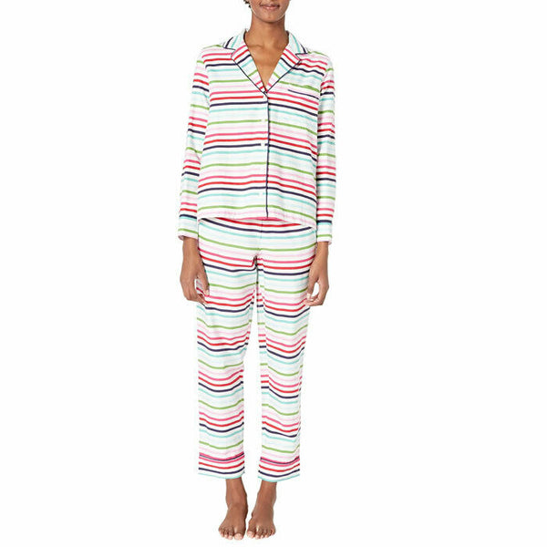 Kate Spade Dream A Little Dream Multicolor Long Pajama PJ Sleep Set SIze Large