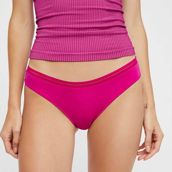 Free People Truth Or Dare Tanga Pink Panty Size M
