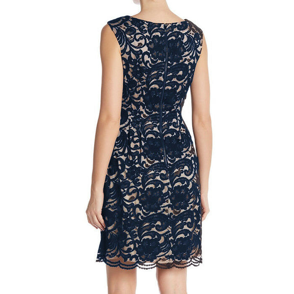 Vince Camuto Blue Sleeveless Lace Dress Size 8 NWT