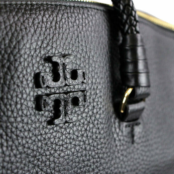 Tory Burch Taylor Black Leather Satchel Crossbody Shoulder Bag MSRP $495