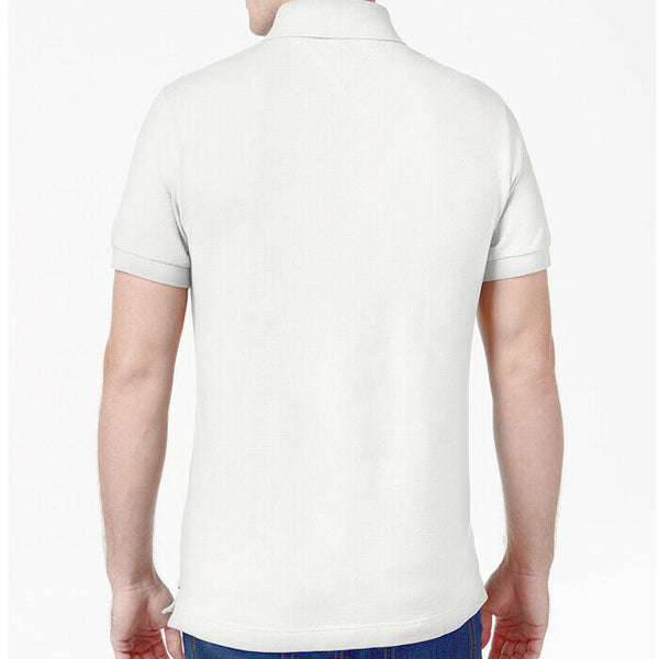 Tommy Hilfiger Men's White Classic Fit Polo Shirt Size L