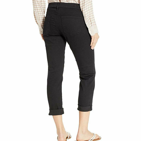 Kut from the Kloth Catherine Boyfriend in Black Relaxed Stretch Jeans 10P
