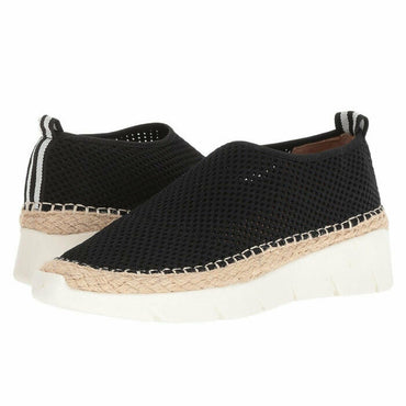 Franco Sarto Pascha Perforated Espadrille Wedge Slip On Fashion Sneaker Size 8.5