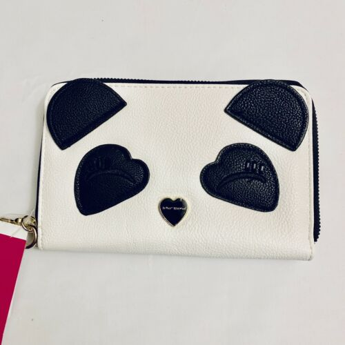 Betsy Johnson Sleepy Panda Vegan Wristlet Purse