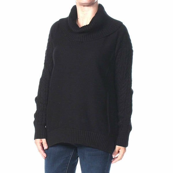 Ralph Lauren Womens Black Cowl Neck Chunky Winter Sweater Size L $125