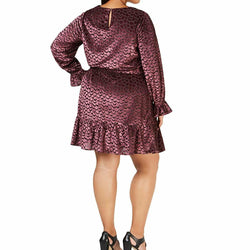 Michael Kors Womens Purple Velvet Smocked Cocktail Dress Size 2X